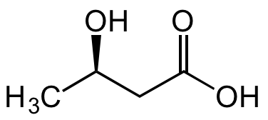 3-Hydroxybutyric acid Structure